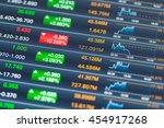 digital stock market on a... | Shutterstock . vector #454917268