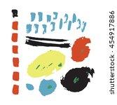 dinosaur card print | Shutterstock . vector #454917886