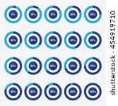 set template icon pie blue and... | Shutterstock .eps vector #454919710