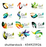 multicolored abstract leaves in ... | Shutterstock . vector #454925926