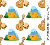 seamless pattern travel theme....   Shutterstock .eps vector #454927474