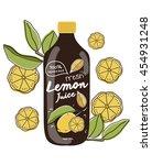 fresh lemon. product  ... | Shutterstock .eps vector #454931248
