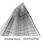 abstract architecture 3d... | Shutterstock . vector #454933798