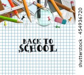 back to school background with... | Shutterstock .eps vector #454936720