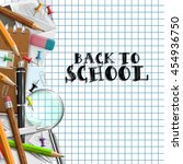 back to school background with... | Shutterstock .eps vector #454936750