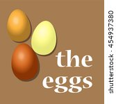 the realistic eggs. vector... | Shutterstock .eps vector #454937380
