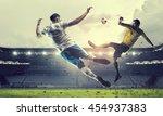 hot football moments . mixed...   Shutterstock . vector #454937383