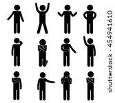 body language   gesture. man  ... | Shutterstock .eps vector #454941610