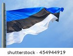 Flag of estonia against the sky