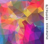 abstract mosaic multicolor... | Shutterstock .eps vector #454956178