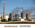 Nuclear power plant Dukovany, Czech republic - stock photo