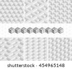 set of vector isometric... | Shutterstock .eps vector #454965148