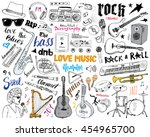 Music Instruments Set. Hand...