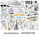 music instruments set. hand... | Shutterstock .eps vector #454965700