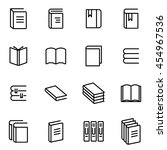 vector line book icon set | Shutterstock .eps vector #454967536