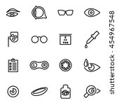 vector line optometry icon set | Shutterstock .eps vector #454967548