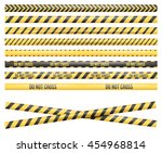 police line  crime scene  do... | Shutterstock .eps vector #454968814
