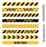 vector set of danger and police ... | Shutterstock .eps vector #454969090