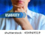 usability concept image. person ... | Shutterstock . vector #454969519
