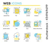 web and custom management icons ... | Shutterstock .eps vector #454969699
