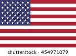 vector image of american flag | Shutterstock .eps vector #454971079