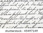 closeup of a vintage letter  ... | Shutterstock . vector #45497149