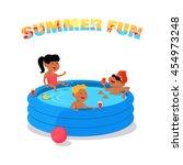 summer fun conceptual vector.... | Shutterstock .eps vector #454973248
