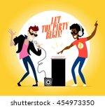 vector flat profession... | Shutterstock .eps vector #454973350