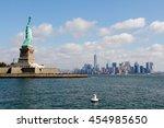 Liberty Statue Against Skyline