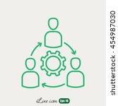line icon  gear people | Shutterstock .eps vector #454987030