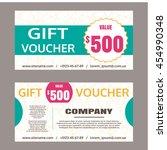 gift voucher template. for... | Shutterstock .eps vector #454990348