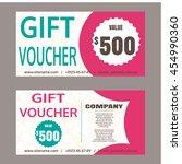 set of vector gift vouchers.... | Shutterstock .eps vector #454990360