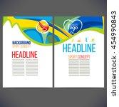vector template design strips... | Shutterstock .eps vector #454990843