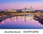 the moscow kremlin in the early ... | Shutterstock . vector #454991890