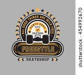 freestyle  skate shop.  city of ... | Shutterstock .eps vector #454992670