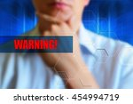 warning concept illustration.... | Shutterstock . vector #454994719