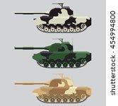 vector the flat military tank... | Shutterstock .eps vector #454994800