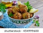 falafel   deep fried balls of...   Shutterstock . vector #454999600