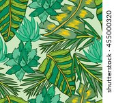 seamless pattern with tropical... | Shutterstock .eps vector #455000320