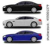 realistic car. sport sedan set | Shutterstock .eps vector #455001379