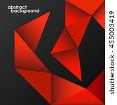 geometric shapes on black... | Shutterstock .eps vector #455003419