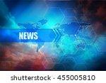 news header banner  abstract... | Shutterstock . vector #455005810