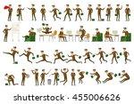 character positions set...   Shutterstock .eps vector #455006626
