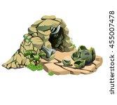 nest of the dinosaur. the... | Shutterstock .eps vector #455007478