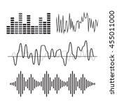 vector music sound wave icon... | Shutterstock .eps vector #455011000