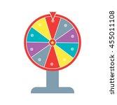 wheel of fortune flat design... | Shutterstock .eps vector #455011108