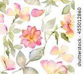 seamless pattern with flowers...   Shutterstock . vector #455012860