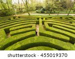 green bushes labyrinth  hedge... | Shutterstock . vector #455019370