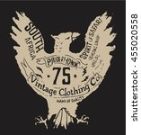handmade eagle illustration... | Shutterstock .eps vector #455020558