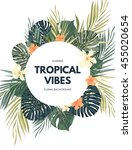 bright hawaiian design with... | Shutterstock .eps vector #455020654